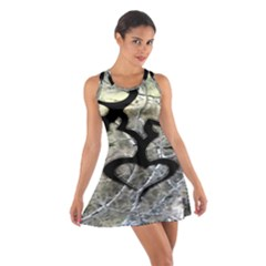 Black Love Browning Deer Camo Cotton Racerback Dress