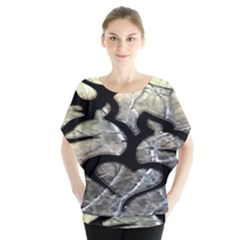 Black Love Browning Deer Camo Blouse