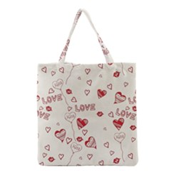 Pattern Hearts Kiss Love Lips Art Vector Grocery Tote Bag