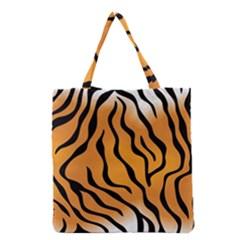 Tiger Skin Pattern Grocery Tote Bag