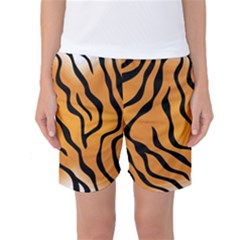 Tiger Skin Pattern Women s Basketball Shorts