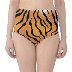Tiger Skin Pattern High-Waist Bikini Bottoms