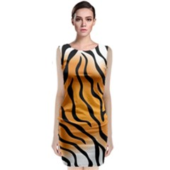 Tiger Skin Pattern Classic Sleeveless Midi Dress
