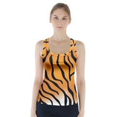 Tiger Skin Pattern Racer Back Sports Top