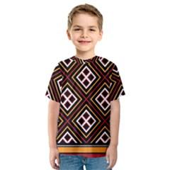 Toraja Pattern Pa re po  Sanguba ( Dancing Alone ) Kids  Sport Mesh Tee