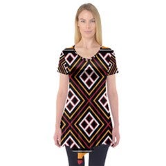 Toraja Pattern Pa re po  Sanguba ( Dancing Alone ) Short Sleeve Tunic