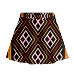 Toraja Pattern Pa re po  Sanguba ( Dancing Alone ) Mini Flare Skirt