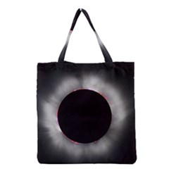 Solar Eclipse Grocery Tote Bag