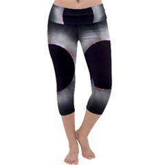 Solar Eclipse Capri Yoga Leggings