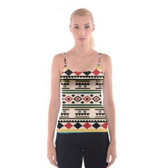 Tribal Pattern Spaghetti Strap Top