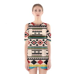 Tribal Pattern Shoulder Cutout One Piece