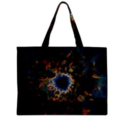 Crazy Giant Galaxy Nebula Zipper Mini Tote Bag