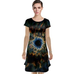 Crazy Giant Galaxy Nebula Cap Sleeve Nightdress