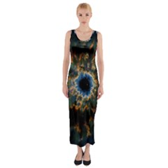 Crazy Giant Galaxy Nebula Fitted Maxi Dress