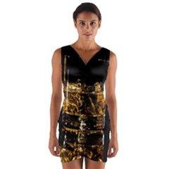 Drink Good Whiskey Wrap Front Bodycon Dress