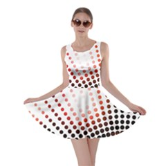 Radial Dotted Lights Skater Dress