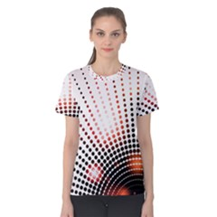 Radial Dotted Lights Women s Cotton Tee