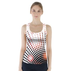 Radial Dotted Lights Racer Back Sports Top