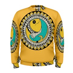 Madhubani Fish Indian Ethnic Pattern Men s Sweatshirt