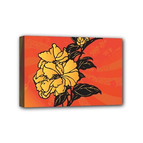 Vector Asian Flowers Mini Canvas 6  x 4