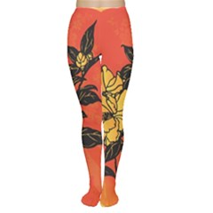 Vector Asian Flowers Women s Tights