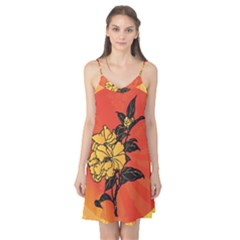 Vector Asian Flowers Camis Nightgown
