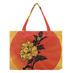 Vector Asian Flowers Medium Tote Bag