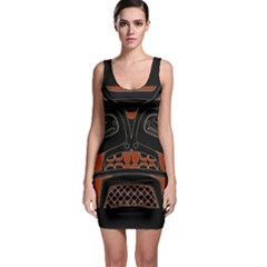 Traditional Northwest Coast Native Art Sleeveless Bodycon Dress