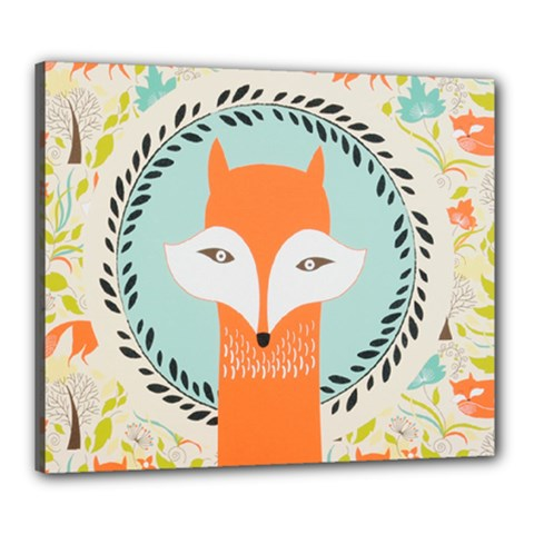 Foxy Fox Canvas Art Print Traditional Canvas 24  x 20