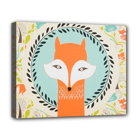 Foxy Fox Canvas Art Print Traditional Deluxe Canvas 20  x 16