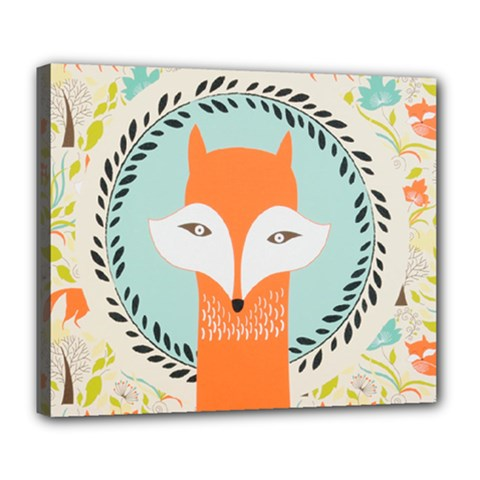 Foxy Fox Canvas Art Print Traditional Deluxe Canvas 24  x 20