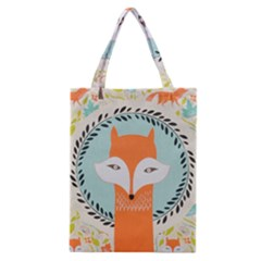 Foxy Fox Canvas Art Print Traditional Classic Tote Bag