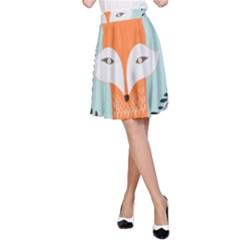 Foxy Fox Canvas Art Print Traditional A-Line Skirt
