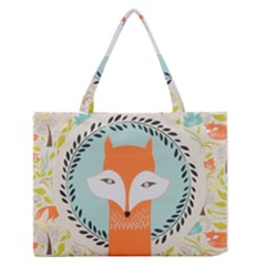 Foxy Fox Canvas Art Print Traditional Medium Zipper Tote Bag