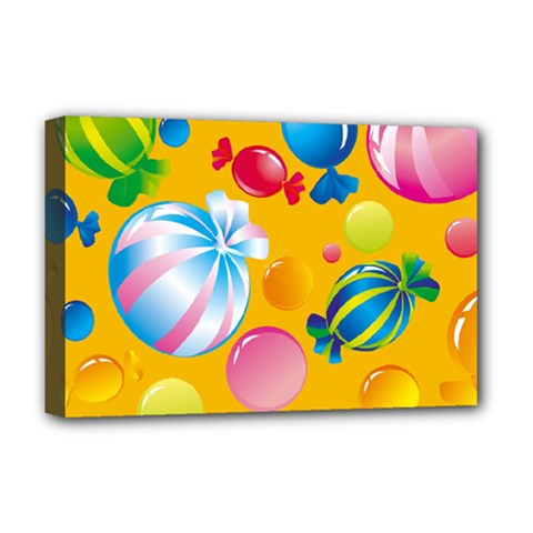 Sweets And Sugar Candies Vector  Deluxe Canvas 18  x 12