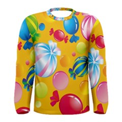 Sweets And Sugar Candies Vector  Men s Long Sleeve Tee