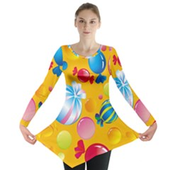 Sweets And Sugar Candies Vector  Long Sleeve Tunic