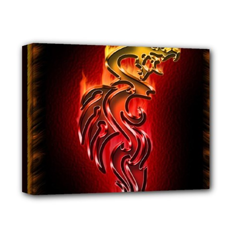 Dragon Fire Deluxe Canvas 14  x 11