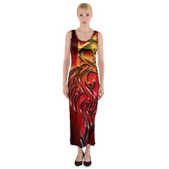 Dragon Fire Fitted Maxi Dress
