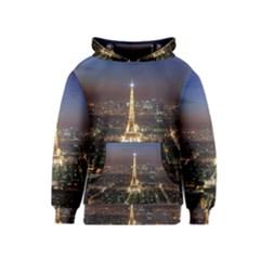 Paris At Night Kids  Pullover Hoodie