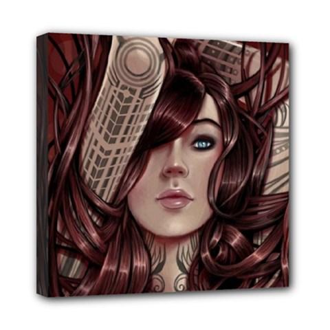 Beautiful Women Fantasy Art Mini Canvas 8  x 8