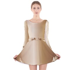 Floral Long Sleeve Velvet Skater Dress