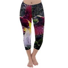 Cendrawasih Beautiful Bird Of Paradise Capri Winter Leggings