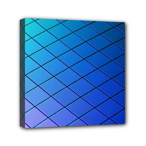 Blue Pattern Plain Cartoon Mini Canvas 6  x 6