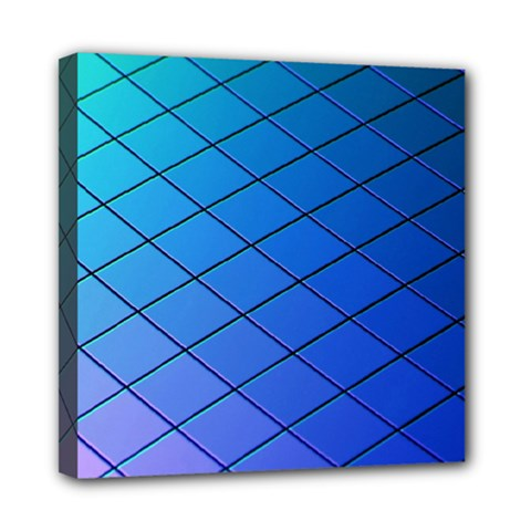 Blue Pattern Plain Cartoon Mini Canvas 8  x 8