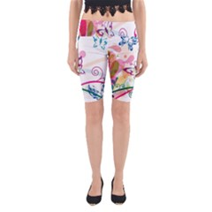 Butterfly Vector Art Yoga Cropped Leggings