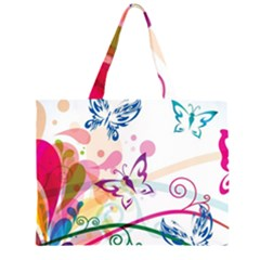 Butterfly Vector Art Large Tote Bag