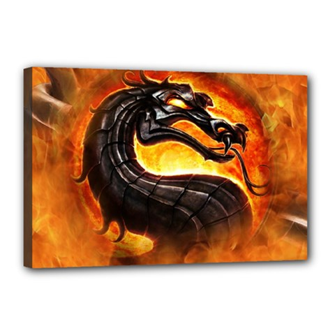 Dragon And Fire Canvas 18  x 12