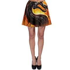 Dragon And Fire Skater Skirt