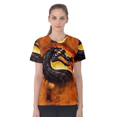 Dragon And Fire Women s Cotton Tee